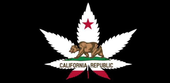 californian weed flag